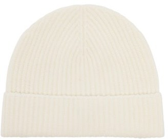 Johnstons of Elgin Johnston's Of Elgin - Ribbed Cashmere Beanie Hat - Womens - White