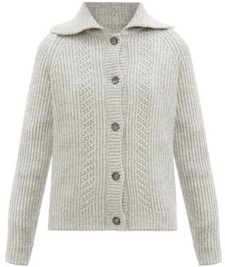 Maison Margiela Point-collar Wool Cardigan - Grey
