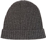 Baby CZ Rib-Knit Cashmere Hat-GREY