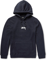 Stüssy - Fleece-back Cotton-blend Jersey Hoodie