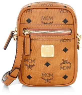 MCM Visetos Original Small Coated Canvas Crossbody Bag