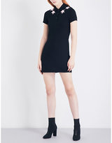 Givenchy Star-embroidered cotton-piqué dress