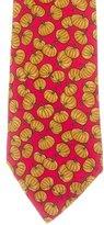 Hermes Silk Pumpkin Print Tie
