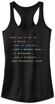 Fifth Sun Breakfast Club Members Each One Of Us is Ideal Racer Back Tank