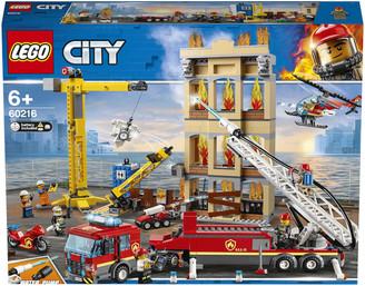 Lego City: Downtown Fire Brigade Crane Truck Copter Set (60216)