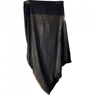 Pleats Please Black Polyester Skirts