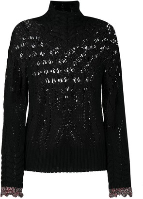 Dondup Open-Knit Rib-Trimmed Jumper