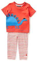 Joules Baby Boys Newborn-12 Months Doodle Dinosaur Applique Top & Striped Bottoms Set