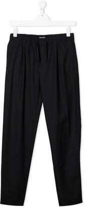 Emporio Armani Kids TEEN drawstring waist straight trousers