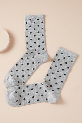 Dear Denier Metallic Dot-Print Ankle Socks