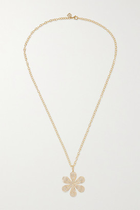 Sydney Evan Daisy 14-karat Gold Diamond Necklace - one size