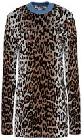 Stella McCartney cheetah jacquard turtle neck jumper