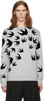 McQ by Alexander McQueen Grey Swallows Pullover