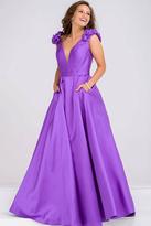 Jovani Plunging Neckline A Line Dress JVN88999