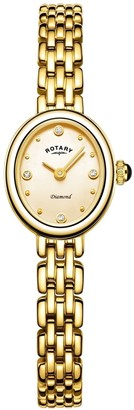 Rotary Watches Balmoral Slim Bracelets Gold Plate Watch Oval Face