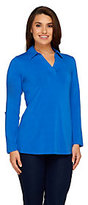 Denim & Co. As Is Active Regular Roll-Tab Sleeve Knit Tunic