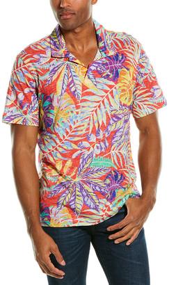 Robert Graham Tropique Linen-Blend Polo Shirt