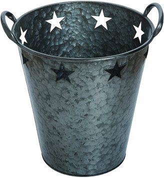 Transpac Metal Large Pewter 4Th Of July Star Bucket