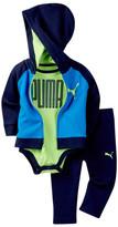 Puma Bodysuit, Hoodie & Pant Set (Baby Boys 0-9M)