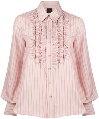 Pinko Striped Ruffled Shirt