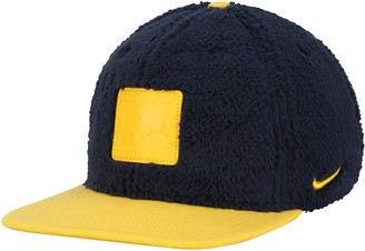 Nike Men's Navy/Maize Michigan Wolverines Pro Sherpa Adjustable Hat