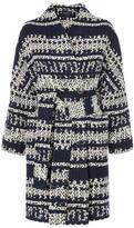 Karen Millen Knitted Geo Wrap Coat