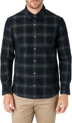 7 Diamonds Desperado Slim Fit Plaid Corduroy Button-Up Shirt