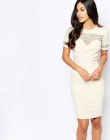 Paper Dolls Pencil Dress with Lace Sleeves