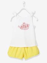 Vertbaudet Girl's T-Shirt & Shorts Outfit Set