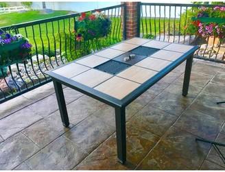 Brayden Studio Moskowitz Metal Outdoor Patio Table Brayden Studio