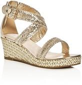 Stuart Weitzman Girls' Akilah Sparkle Wedge Sandals