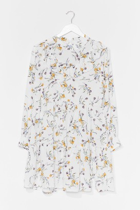 Nasty Gal Womens Not Growing to Happen Floral Mini Dress - White