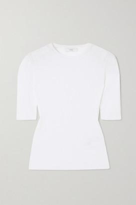 Vince Plisse Cotton-crepon T-shirt - White