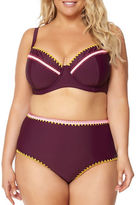 Jessica Simpson Plus Plus Woodstock Cut Foam Bikini Top