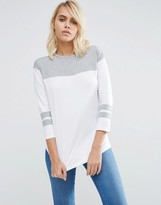 Asos T-Shirt With Color Block Panels
