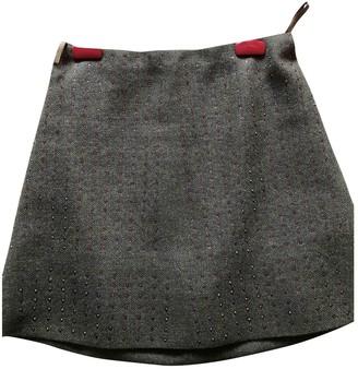 Miu Miu Green Wool Skirt for Women