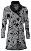 Dorothy Perkins Womens Izabel London Grey Floral Wrap Knit Top, Grey