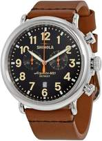 Shinola Men's The Runwell 47mm Leather Band Steel Case Quartz Watch S0100044