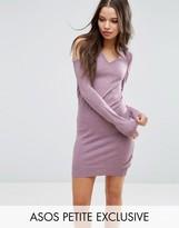 Asos Sweater Dress With V Neck And Cold Shoulder