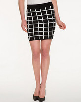 Le Château Check Print Knit Mini Skirt