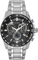 Citizen Eco-Drive Perpetual Chrono A-T Mens Titanium Chronograph Watch AT4010-50E