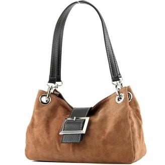 Modamoda De ital. Ladies Handbag Tote Satchel leather bag Suede Small TL02