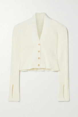 Jacquemus Cropped Knitted Cardigan - Ivory