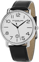 Stuhrling Original Mens Black Strap Watch-Sp15501