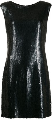 Chanel Pre Owned Sequinned Fitted Dress