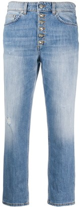 Dondup Cropped High-Waisted Jeans