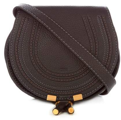 Chloé - Marcie Mini Leather Cross Body Bag - Womens - Black