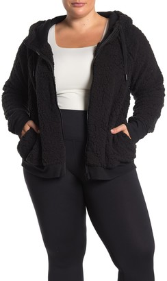 Z By Zella Up & Over Faux Shearling Bomber Jacket