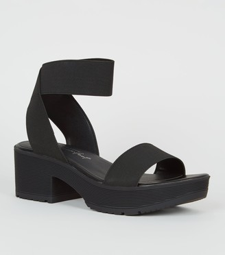 New Look Elasticated Strap Chunky Platform Sandals