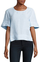 Lord & Taylor Flutter Sleeve Boxy Tee